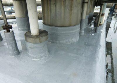 Rohrabdichtungen mit Flüssigkunststoff in Lage
