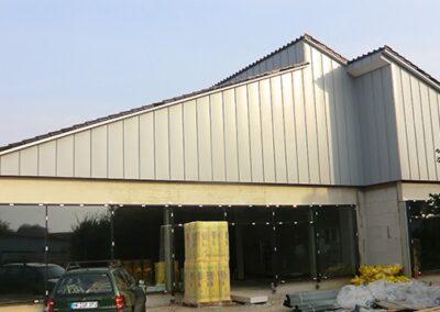 Giebelbekleidung mit Aluminiumscharen in Leopoldshöhe