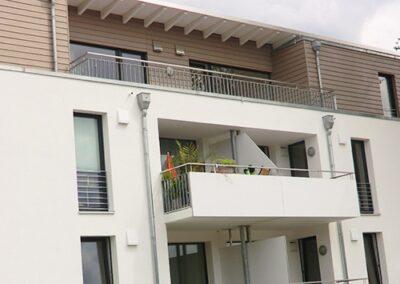 Penthaus Fassadenbekleidung mit mineralischer Wärmedämmung und Eternit Cedral Fassadenpaneele in Lemgo