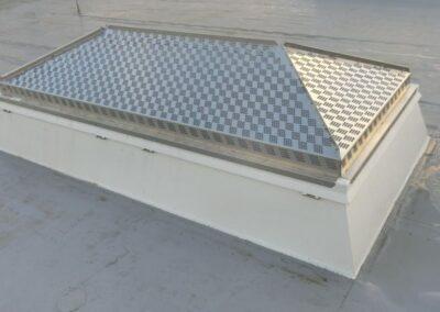 Essmann Lichtkuppel mit HDS-Schutzsystem, Hagelschutz-Durchsturzsicherung-Sonnenschutz in Bad Pyrmont