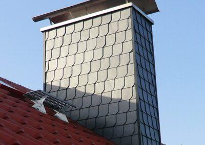 Kaminbekleidung mit Naturschieferplatten