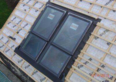 Bauder PIR-Aufdachdämmung bei einer Dachsanierung in Lemgo
