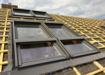 Velux Dachfensteranlage bei einer Dachsanierung in Dörentrup