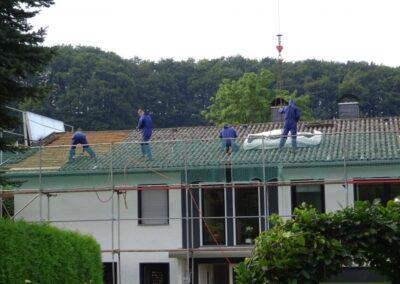 Sanierung einer asbesthaltigen Dacheindeckung in Dörentrup